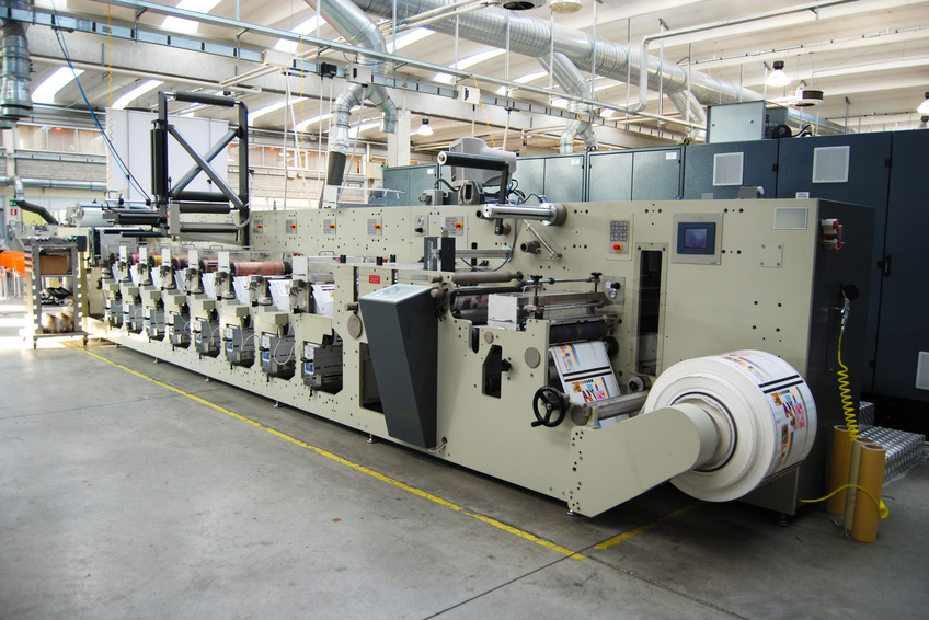 UV flexo printing press