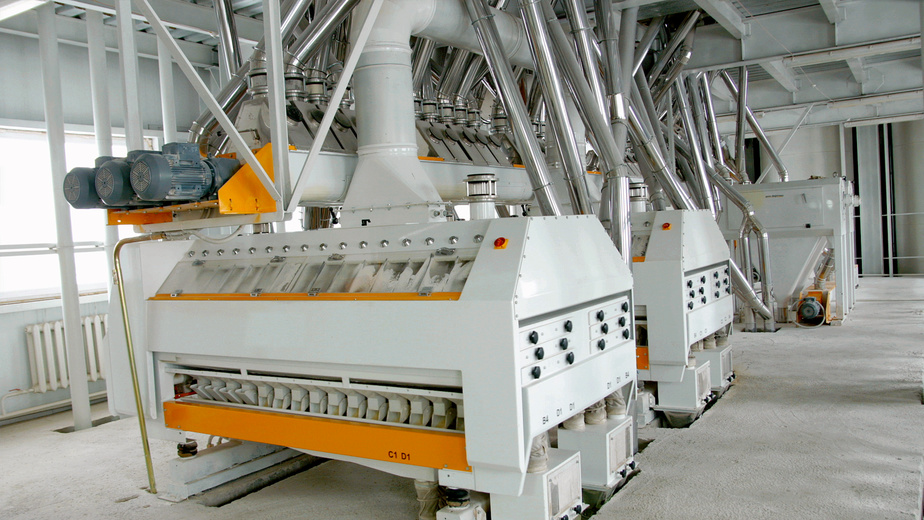 Electrical mill machinery for the production of wheat flour
