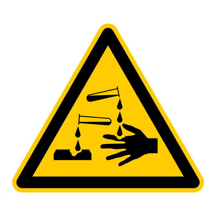 Sign corrosive substances